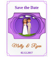 wedding invitation paper cut style vector image vector image