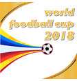 world football cup 2018 flying socer ball orange w vector image vector image