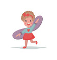 sweet little girl playing with wings kid dreaming vector image