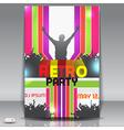 Retro party flyer vector image