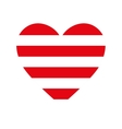 heart love red stripes vector image