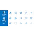 15 mp3 icons vector image vector image
