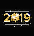 2019 happy new year background decoration vector image vector image