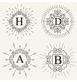 Abstract creative concept logo of retro vector image vector image