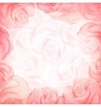 Abstract romantic background in red colors vector image
