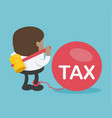 african businessmen are about to break a big tax vector image vector image