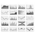 analytical monochrome graphics vector image
