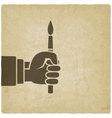 artist hand with brush vector image vector image