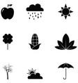 autumn icon set vector image vector image