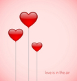 balloons with heart shape vector image
