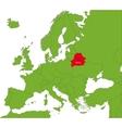 Belarus map vector image vector image