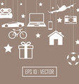Big gift set vector image