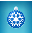 Blue Ball with Snowflake vector image