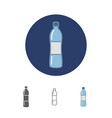 bottle water icon vector image vector image