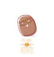 brown cute little kawaii potato cartoon vector image vector image