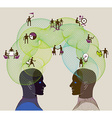Business concept of collaboration teamwork and vector image vector image