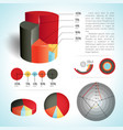 business diagram set vector image vector image