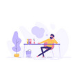 business man is relaxing and dreaming vector image
