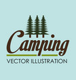 camping wild life with forest scene vector image