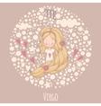 Cartoon of the maiden Virgo vector image
