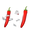 Cartoon red chilli pepper vegetable vector image