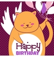 Cat with balloons vector image vector image