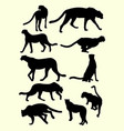 cheetahs animals silhouette vector image vector image
