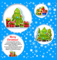 christmas tree composition vector image vector image