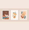 collection contemporary art prints modern vector image