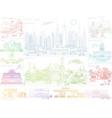 color city skyline landscapes vector image