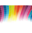 Colorful rainbow background - cells vector image vector image