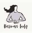 concept business woman business lady drawn vector image vector image
