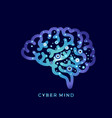 cyber mind digital concept computer techologies vector image