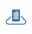 document file cloud logo vector image