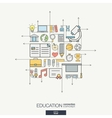 Education integrated thin line symbols Modern vector image