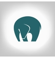 emblem of an elephant on a light background vector image vector image