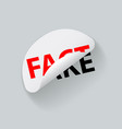 fact and fake creative sticker label vector image