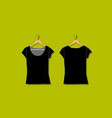 female tshirt mockup white for your design vector image vector image