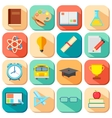 flat education icon vector image vector image
