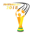 football cup 2018 flying championship cup white ba vector image vector image