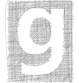 Freehand Typography Letter g vector image vector image