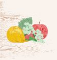 Fruits as engraving vintage vector image vector image
