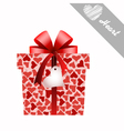 gift and hearts vector image vector image