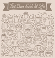 Hand drawn sketch set coffee vector image vector image