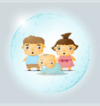 happy family concept with children vector image