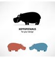 Hippopotamus icon vector image vector image