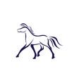 horse logo template design vector image vector image