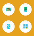 icon flat window set of glass frame glazing vector image vector image