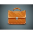 Leather briefcase vector image vector image