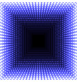 led mirror abstract square background blue vector image vector image